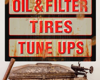 Auto Services Oil Tires Tune Ups Wall Decal - #57833