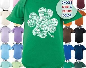 Distressed Shamrock design - Bodysuit - Boys / Girls / Irish / St. Patty's Day