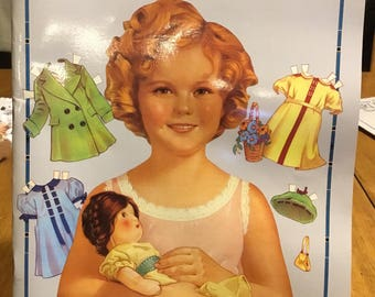 1986 Classic Shirley Temple Paper Dolls in Full Color . . . From Dover Publications
