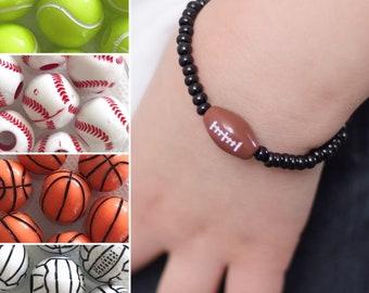 Sports Bracelets, Boys Bracelet, Kids Bracelet, Sports Jewelry, Sports Birthday Party, Sports Team Gifts, Boys Party Favors, Coach Gift