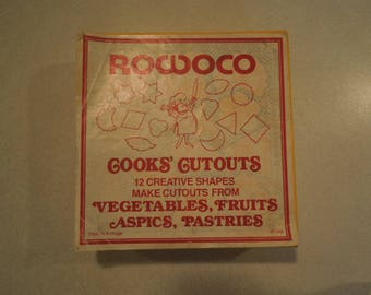 Vintage Kitchen Rowoco Cook's Cutouts Made in Portugal