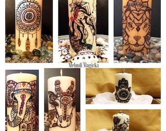 Choice of Henna Candle