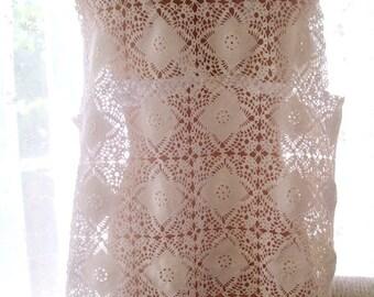 Crochet lace vest, crochet women's clothing, crochet summer vest, handmade top, clothing, crochet white lace vest