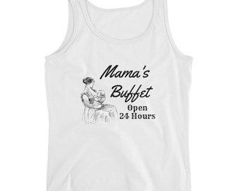 Breastfeeding Mama's Buffet Ladies' Tank