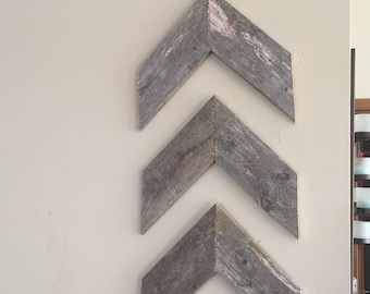 Barn wood chevron (set of 3)