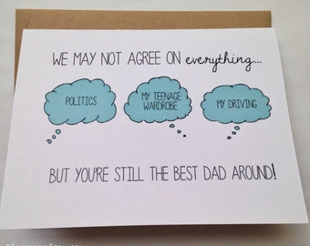 Funny Dad Card - Father's Day Card - Dad Birthday Card - Funny Card - Card for Father