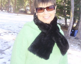 Sumptuously Soft Faux fur pull through SCARF neck wrap Choose fabric great as a co worker or teachers gift