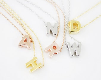 Uppercase Initial Necklace Personalized Necklace Letter Necklace Personalized Necklace Alphabet Necklace