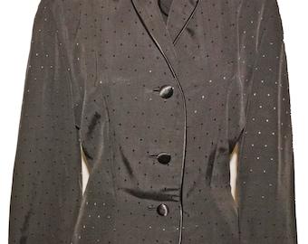 1950s Faille Suit Sz 4 Vintage Retro