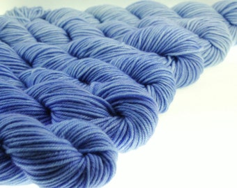 Ombre Mini Skeins DK or Fingering Weight Gradient Yarn - Fading Tardis -  600 yards