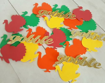 Turkey Confetti, Thanksgiving Confetti, Thanksgiving Decorations, Thanksgiving Decor, Thanksgiving Table Decor, Friendsgiving Decor, Fall