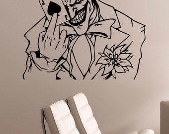 The Joker Wall Art Decal Vinyl Sticker DC Comics Antihero Art Decorations for Home Kids Living Room Bedroom Dorm Office Decor jkr9