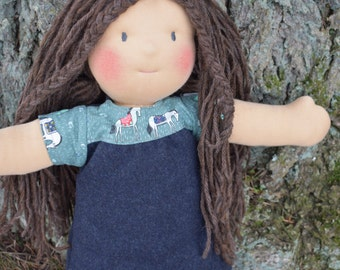 "SALE!!! 18 inch Waldorf Doll ""Emma"" Natural Fibres, Wool"