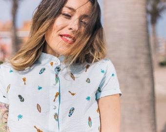 Summer shirt Surf Waves