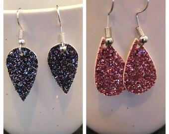 Glitter Canvas Teardrop (small) earrings