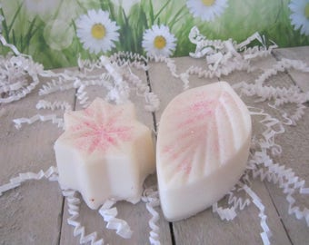 Soy Wax Melts~ Star and Leaf Flower Shape Candle- Soy Wax Tarts Candles -2.7oz