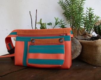 Double Color Pick, Mutant Edition, Personalized Handmade Waist Bag, Vegan Friendly, Vegan Leather Hip Bag, Festival Bag, Bum Bag, UNUSUAL