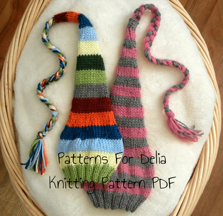 Stocking Hat KNITTING PATTERN newborn baby infant toddler child ...