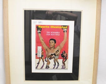 Framed 1967 Sports Illustrated Magazine Champion Muhammad Ali Cover