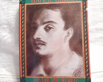 KAHLIL GIBRAN His Life & World Book Poet Artist Philosopher, Photos Illus Mystical Drawings Writings, 456 pg Interlink Paperback 1991