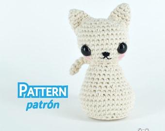 Gato amigurumi, gatitos, patrón amigurumi, patrón crochet, amigurumi, amigurumi PDF, amigurumi kawaii, amigurumi animal, crochet, patrón