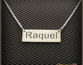 """Sterling Silver cut out Name Necklace """"100% Satisfaction Guarantee or Money Back"""""""
