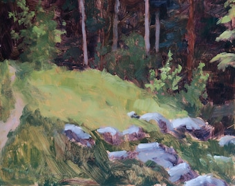 Santa Fe Forest Clearing  - Santa Fe - New Mexico - Original Oil Landscape Painting