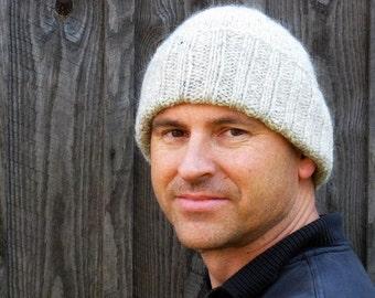 Mens gray winter hat
