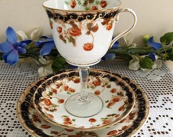 Teacup wine glass trio