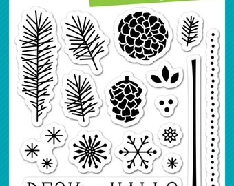 Lawn Fawn Deck the Halls Photopolymer Clear Stamp Set, Scrapbooking/Stamping/Paper Crafts
