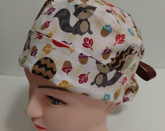Fall ponytail surgical hat