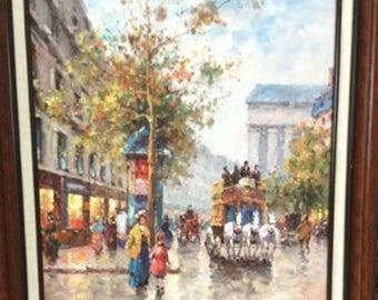 Dany Cooper (20th C.) Street Scene Oil Painting