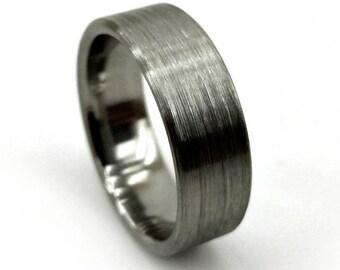 Simple Ring, Brushed Titanium Ring, Titanium Wedding Ring, Titanium Engagement, Engagement Ring, Blacksmith Ring, Rustic Ring, Rugged Ring