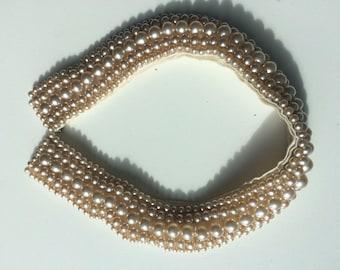 Vintage Sally Gee Pearl Collar
