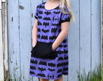 Knit Dress Pattern for Girls - Knit or Fleece Dress Pattern - Easy Dress Pattern  with Pockets - PDF New York Minute Dress