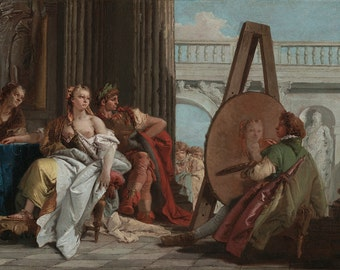 Giovanni Battista Tiepolo: Alexander the Great and Campaspe in the Studio of Apelles. Fine Art Print/Poster. (004023)