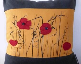 Poppy Screenprint Cushion