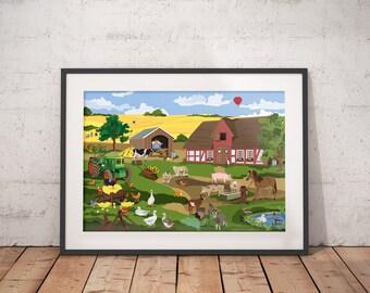 illustration - farm