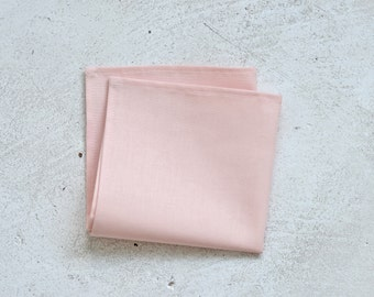 Pale Peach Blush Pocket Square