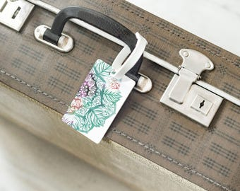 Mandala Baggage Tag Luggage Label Accessories Travel Luggage Tag Personalized Luggage Tag Custom Tag Personalized Information Private CL6621