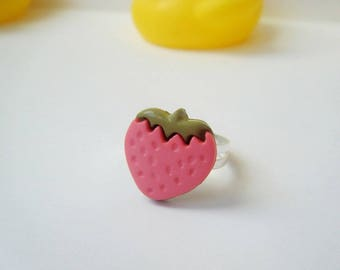 ♥ Ring small Strawberry pink ♥
