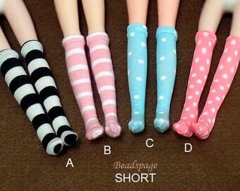 1:6 scale Doll Fashion Socks for Blythe Barbie DAL Licca Pullip BJD- Kawaii Cute Dolls Accessories Legwear