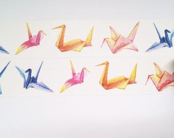 Design Washi tape Paper cranes folded