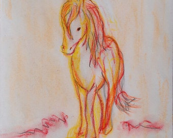 A2 poster children's horse