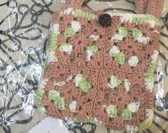 Crocheted Granny Square Purse #159