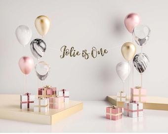 Happy Birthday Banner, Happy Birthday Sign, Custom Birthday Banner, Gold Birthday Party,
