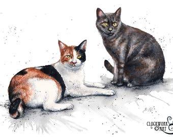 11x14 Original Custom Watercolour Pet Portrait