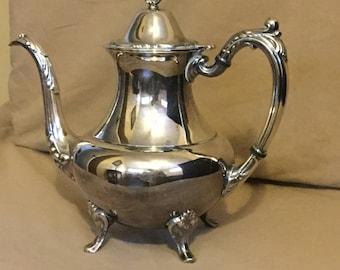 Silverplate Coffee Pot in Georgian Scroll