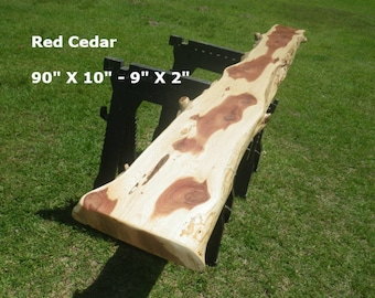 FINISHED Red Cedar Live Edge Table Top, DIY Floating Shelf, Foyer Table,  Console