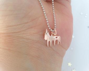 Dream Big - Unicorn Necklace with 925 Silver Chain